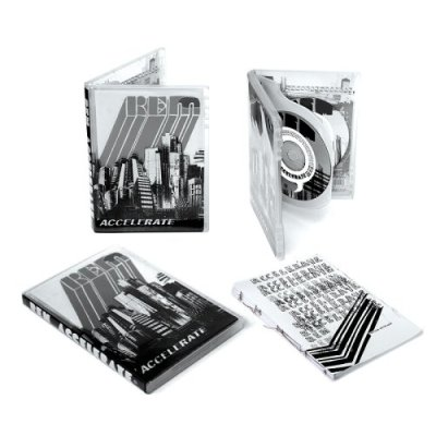 R.E.M.'s Accelerate CD+DVD package